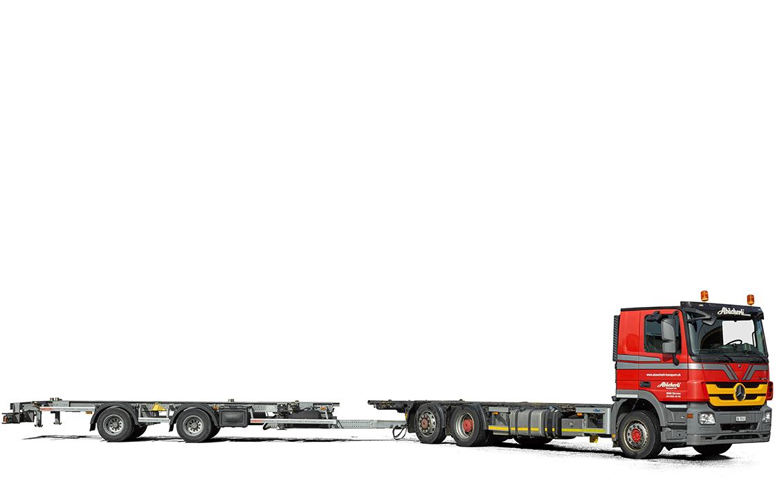 3-Achs-Pritschenwagen
